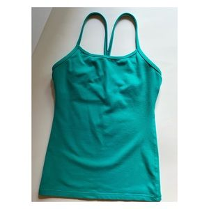Lululemon Athletica Turquoise Power Y Tank Size 4
